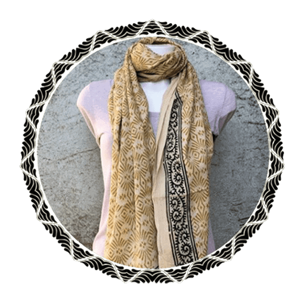 Blockprint sjaals